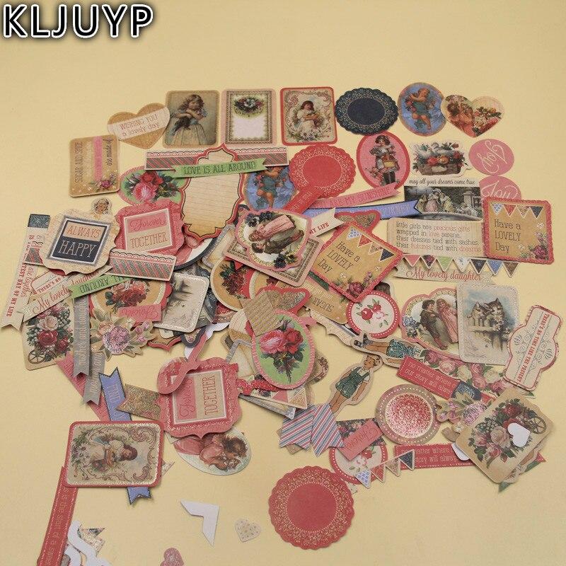 KLJUYP 146 pcs Belle Filles Carton Découpes pour Scrapbooking Heureux Planificateur/Fabrication De Cartes/Journalisation Projet
