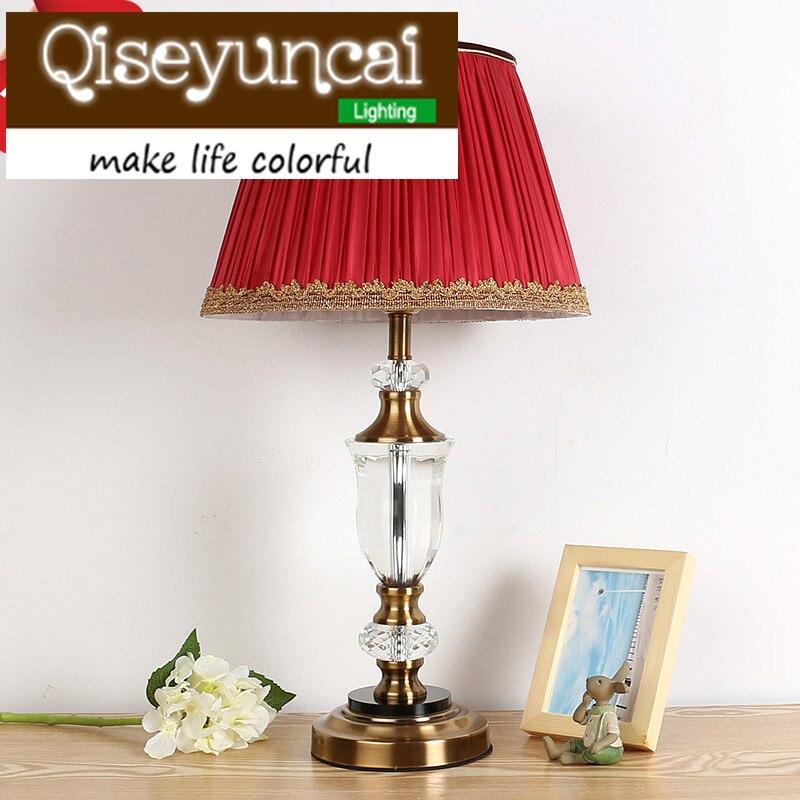 Qiseyuncai Европейской романтической теплый свет LED Настольная лампа диммер современный минималистский творческий спальня глаз ночники