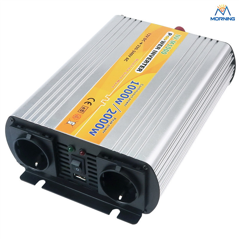 M1000 1000W modified sine wave DC to AC solar inverter 12V 24V input 110V 220V output solar power on grid tie mini 300w inverter with mppt funciton dc 10 8 30v input to ac output no extra shipping fee
