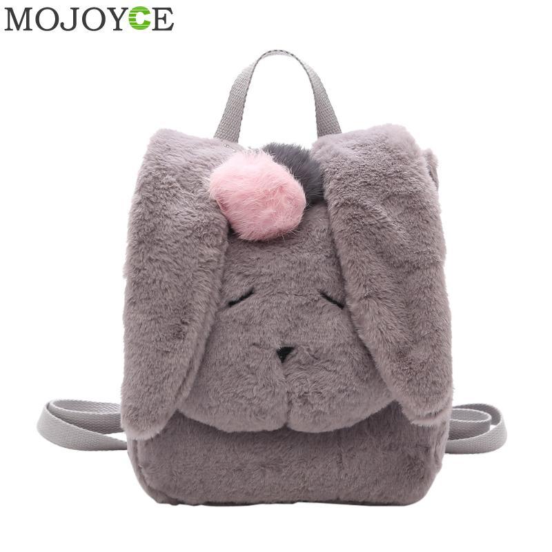 Women Rabbit Shaped Backpack Korean Cute Plush Winter Backpack Fashion Leisure Backpacks For Teenagers Girls Women Rucksack New