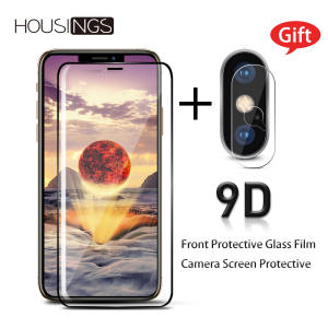 9D Phone Screen Protector Tempered Glass Film For iphone X 7 6 8 6S plus XS XR XS Max Full Curved Screen Protector Front Film