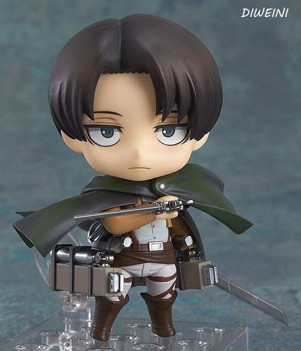 1 Pcs/set Adjustable Cartoon Attack On Titan Levi Ackerman Action Figure Toys Collection Christmas Toy Doll 25cm levi ackerman rivaille li weier soldiers attack on titan trunk standing battle edition pvc action figure model toys