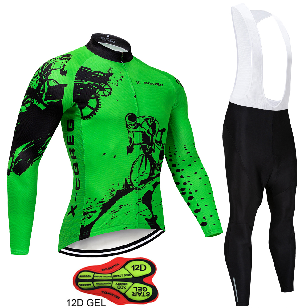 2019 Hot X-CQREG Spring Autumn Long Sleeve Cycling Jersey Suit Maillot Ropa Ciclismo Mountain <font><b>Bike</b></font> Suit Breathable <font><b>Bike</b></font> <font><b>Wear</b></font> image