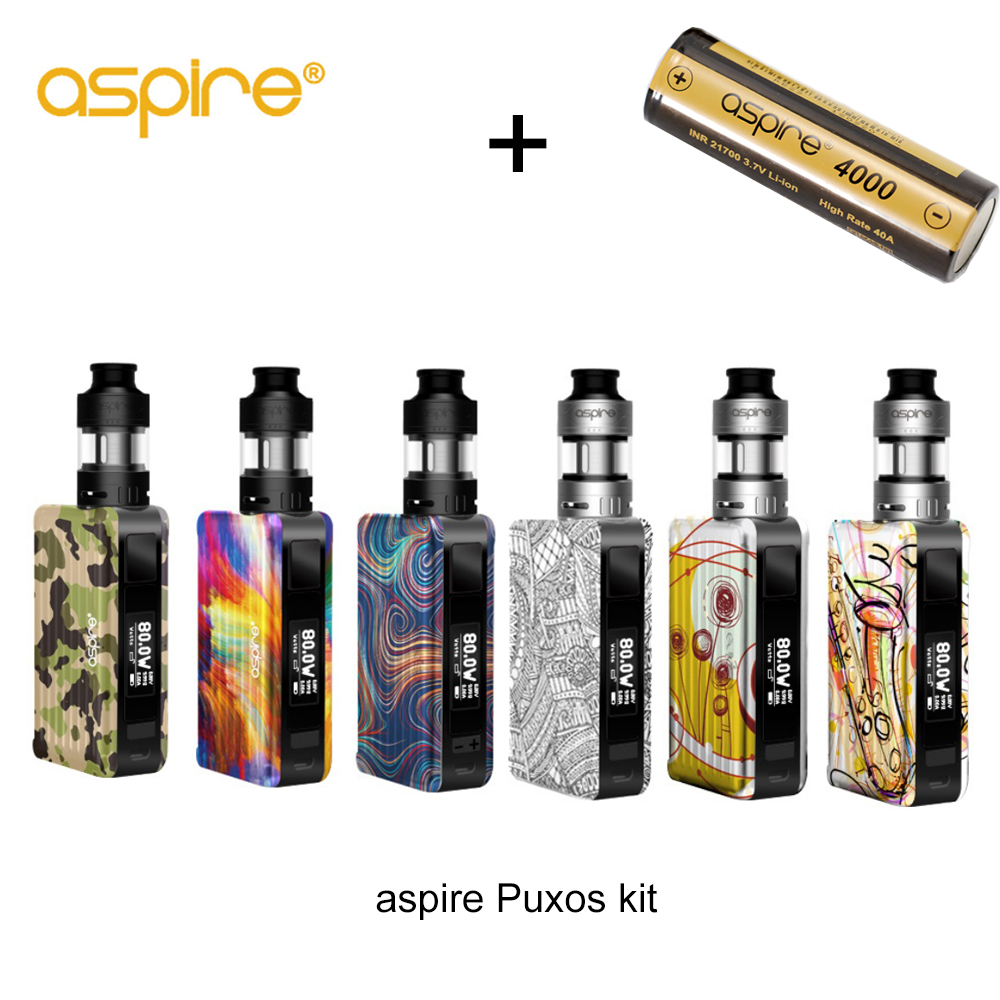 Originale Aspire Puxos Vape Kit 3 ml Capacità cleito pro serbatoio con 21700 Batteria inclusa Vaporizador E kit di Sigaretta