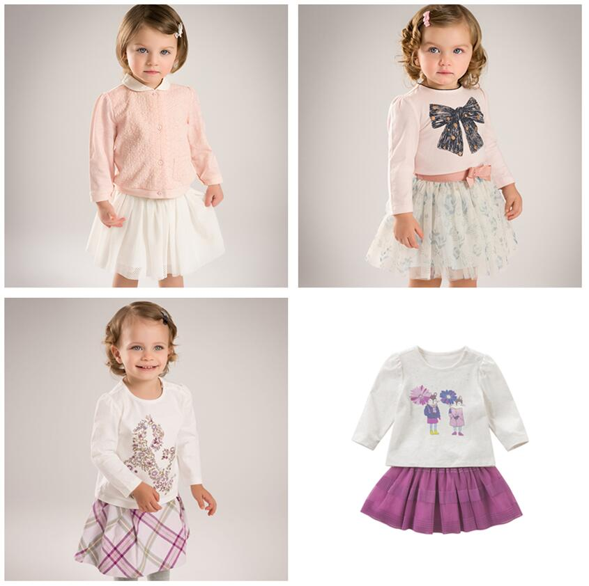 DB5037 dave bella clearance spring autumn baby girls princess clothing sets kids floral clothing sets with ruffle T-shirt skirt floral ruffle crop top and mermaid skirt