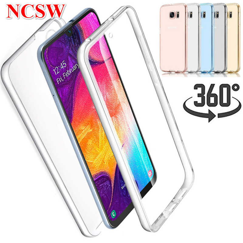 360 Degree Phone Case for Samsung Galaxy A50 A30 A40 A60 A70 A10 A750 S10 M10 M20 M30 Silicone Cover 2 in 1 Soft TPU Rubber Case