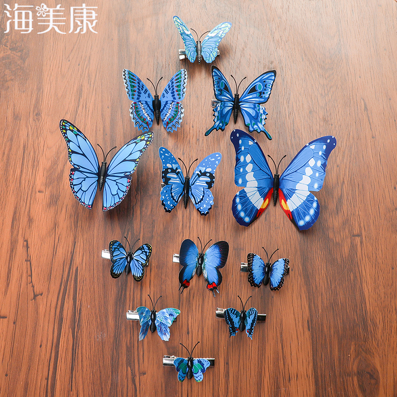 Haimeikang Hair Clips For Women Girls Butterfly Hairpin Woodland Party Favor Women Barrette Theme Girls Hair Accessories