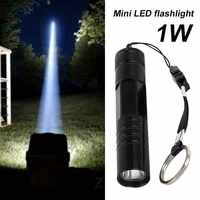 Portable LED Flashlight Torch Emergent Lamp 1W Multicolor Waterproof Tactical Military Hiking Cycling Outdoor Sporting