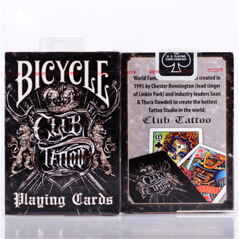 Club tattoo deck bicycle playing cards poker size uspcc for Bicycle club tattoo deck