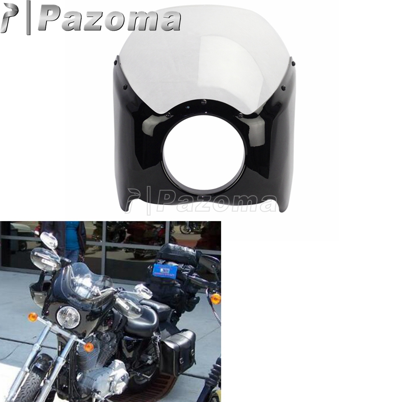 US $29 34 5% OFF Clear ABS Plastic Narrow Wide Glide/Custom Mid Glide  Fairing Kit For Harley Motorcycle-in Covers & Ornamental Mouldings from