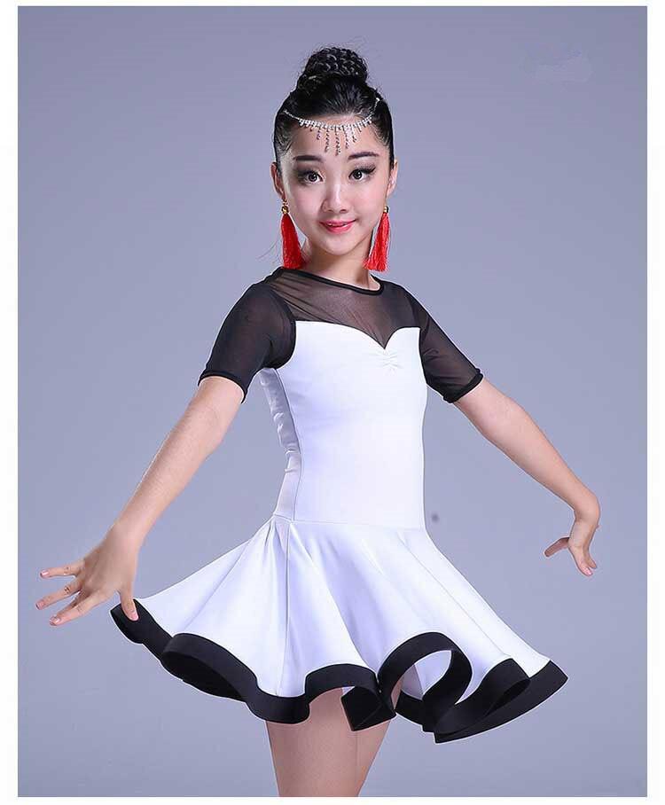 Girl Latin Dance Dress Children Ballroom Dance Dresses Kids Kid Salsa Rumba Cha Cha Samba Tango Standard Competition Latin Dress