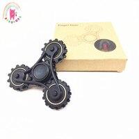 Tri Spinner Gear Teeth Linkage Metalen Fidget Spinner Hand Spinner Finger Anti Stress Wheel Fidget Spinners