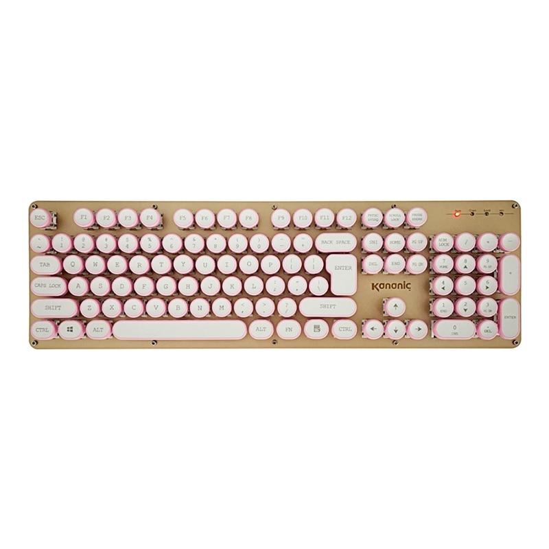 1 Set DIY Keycap Retro Steam Punk Typewriter Mechanical Keyboard Keycap 108 Keys Hot High Quality