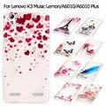 Обложка для Lenovo A 6010/6010 Плюс Мобильный Телефон Сумка Обложка Ясно IMD ТПУ Гель Телефон Случаях для Lenovo A6010 Plus Shell-Красные Сердца