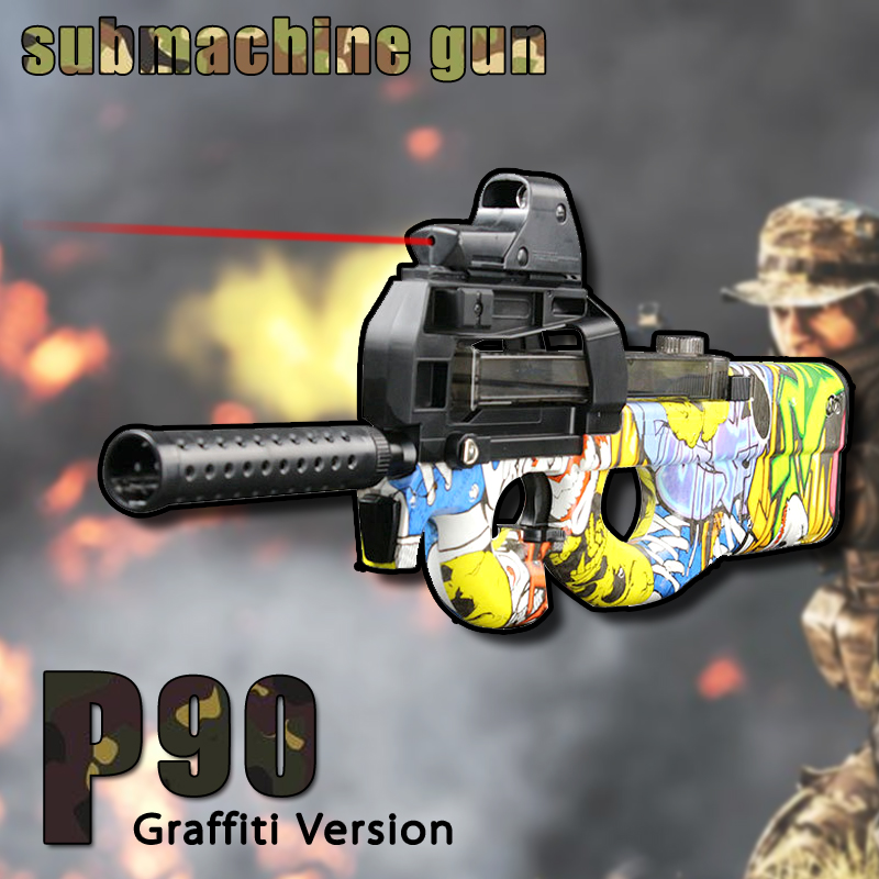 P90 Submachine Gun Electric Continuous Firing font b Toy b font Guns airsoft pistol Outdoor Fun