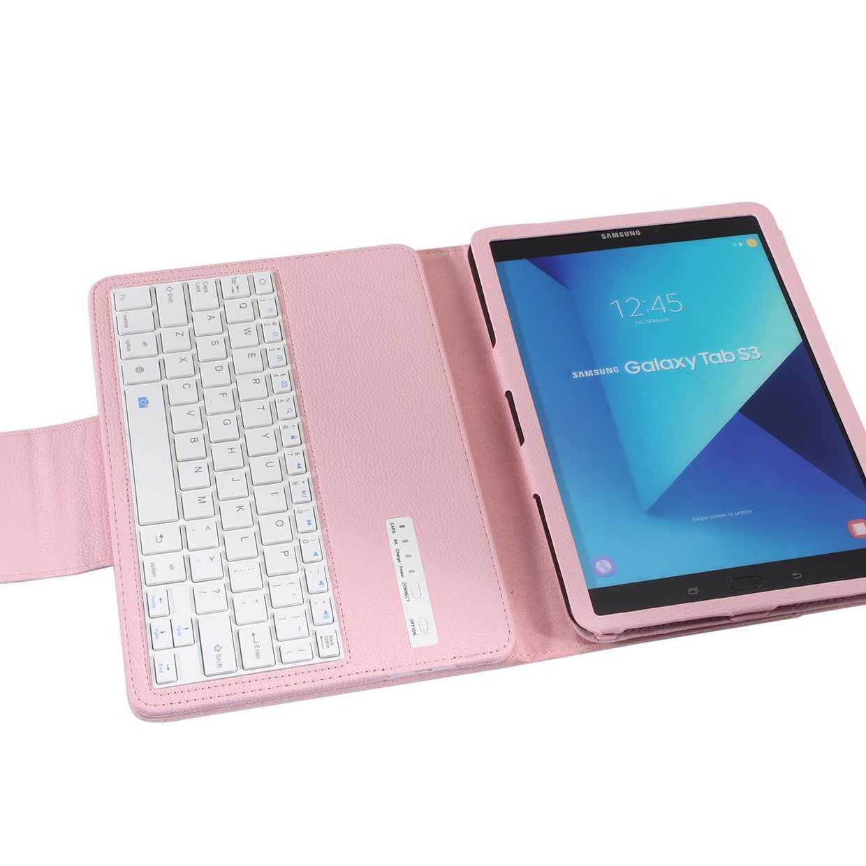 Wireless Keyboard Voor Samsung Galaxy Tab S3 9.7 Bluetooth Toetsenbord Geval Voor Galaxy Tab S3 9.7 T820 Tablet Flip Leather cover + Pen