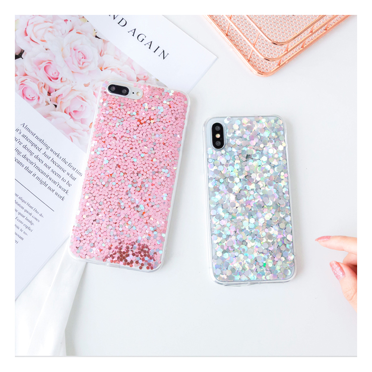 Free shipping glitter sequin phone case