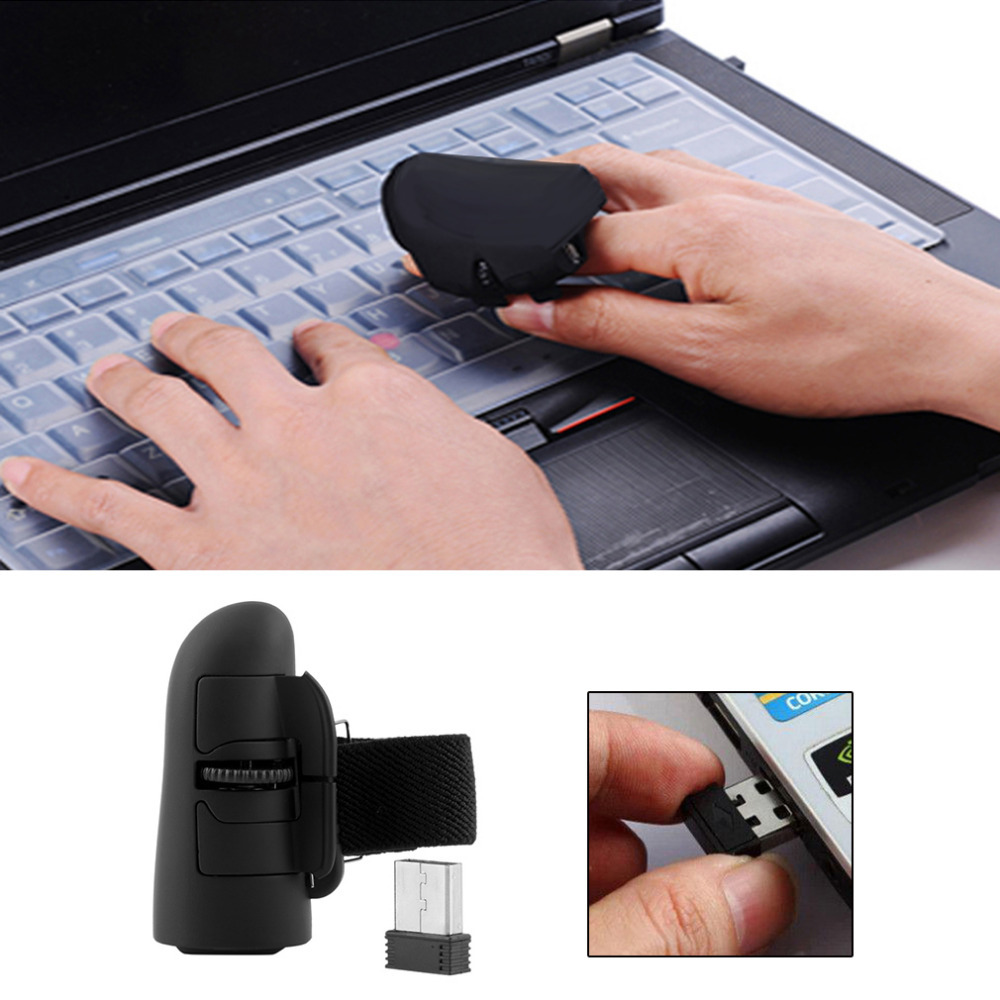 Universal 2.4GHz USB Wireless Finger Rings Optical Mouse 1600Dpi For All Notebook Laptop Tablet Desktop PC 4 Colors Optional