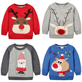 Christmas Fashion Mem Children T-SHIRT Thickened Velvet Sweatshirt Girl Boy
