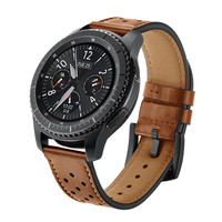 Kopeck Hole Style Genuine Leather Watch Strap For Samsung Gear S3 Classic Frontier Smart Bracelet Strap