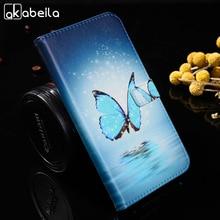 AKABEILA из искусственной кожи случаи мобильного телефона для Lenovo A536 a358t 536 Волк бабочка с рисунком собачки и котика обложки флип A536 кобура Сумка Shell