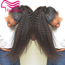 Glueless Full Lace Human font b Hair b font Wigs Kinky font b Straight b font