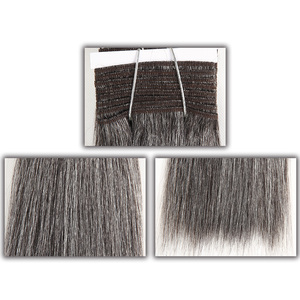 Image 2 - Sleek Colorful Hair Brazilian Hair Weave Bundles Straight Hair bundles #44 #34 #280 51# Piano Gray Remy Human Hair Extensions