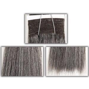 Image 2 - מלוטש צבעוני שיער ברזילאי שיער Weave חבילות ישר שיער חבילות #44 #34 #280 51 # פסנתר אפור רמי שיער טבעי הרחבות