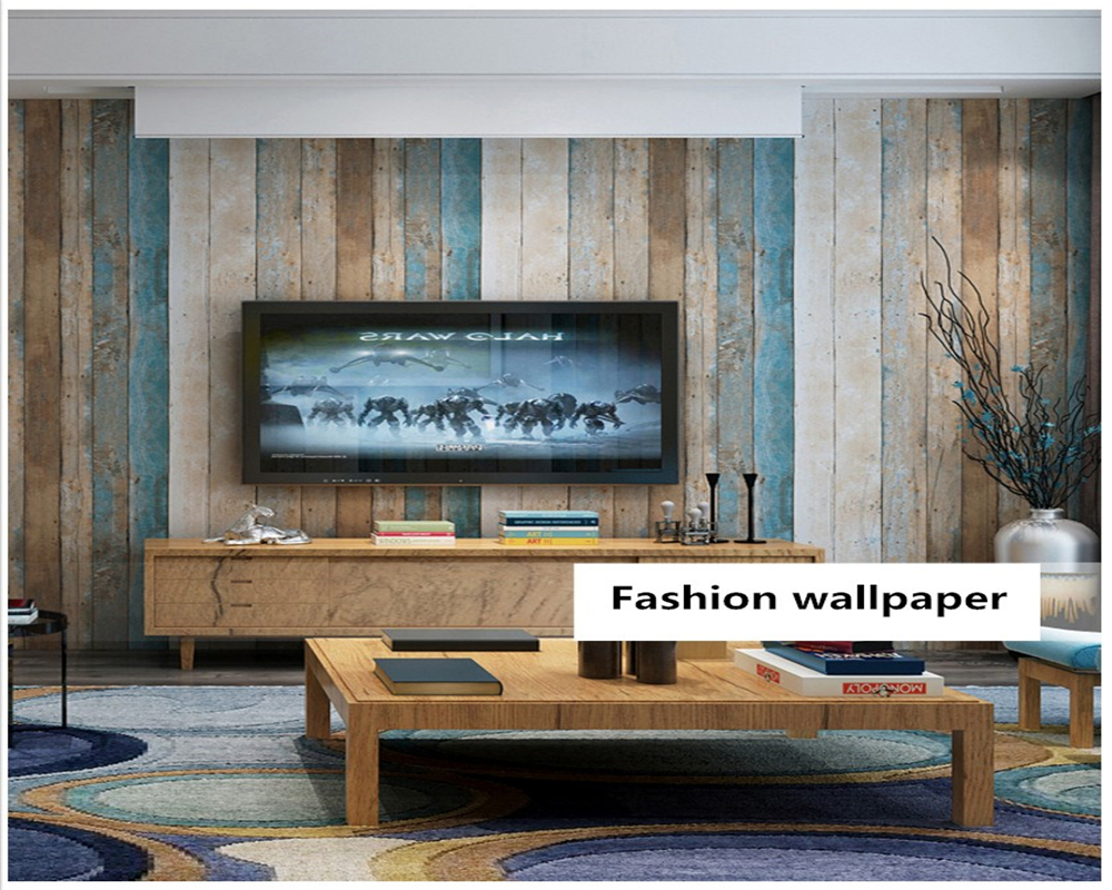 beibehang wall paper Nordic style retro nostalgic imitation wood grain simple industrial style living room background wallpaper imitation ceramic tile wallpaper background thickening wallpaper bohemia national style mediterranean southeast style paper