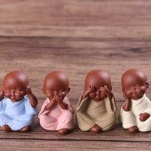 Керамические украшения, Йога, мандала, чай, питомец, фиолетовый, керамические изделия, DecorativeMonk, маленькая статуя Будды, статуэтка монаха, Tathagata, Индия