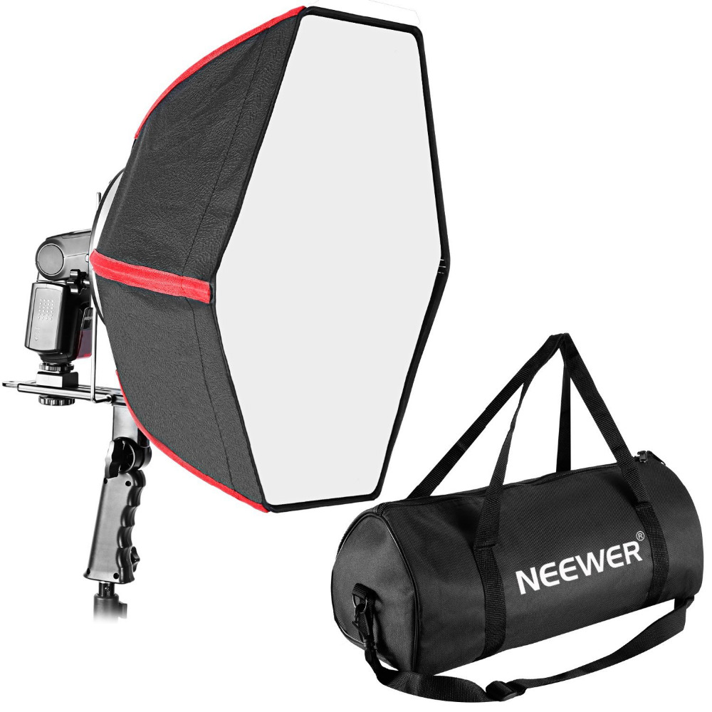 Neewer 24 60cm Professional Collapsible Hexagonal Softbox Folding Softbox Diffuser Handle Grip for Yongnuo Godox Speedlights