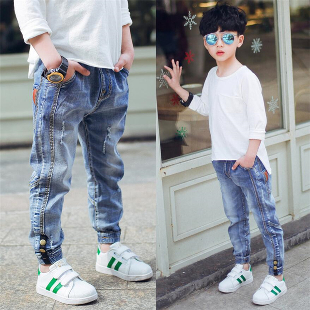 2019 New Children S Clothes Boy S Jeans Spring And Autumn Big Boys