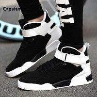 Cresfimix Мужская Мода черный и белый на шнуровке высокая обувь мужская классная весна и осень обувь мужская повседневная увеличивающая рост об...