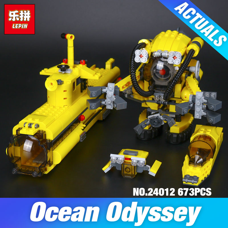 Lepin 24012 Creative The Underwater Explora Ship Set Funny Children Educational Building Blocks Bricks Plan Toys Model 4888 Gift lepin 22002 1518pcs the maersk cargo container ship set educational building blocks bricks model toys compatible legoed 10241