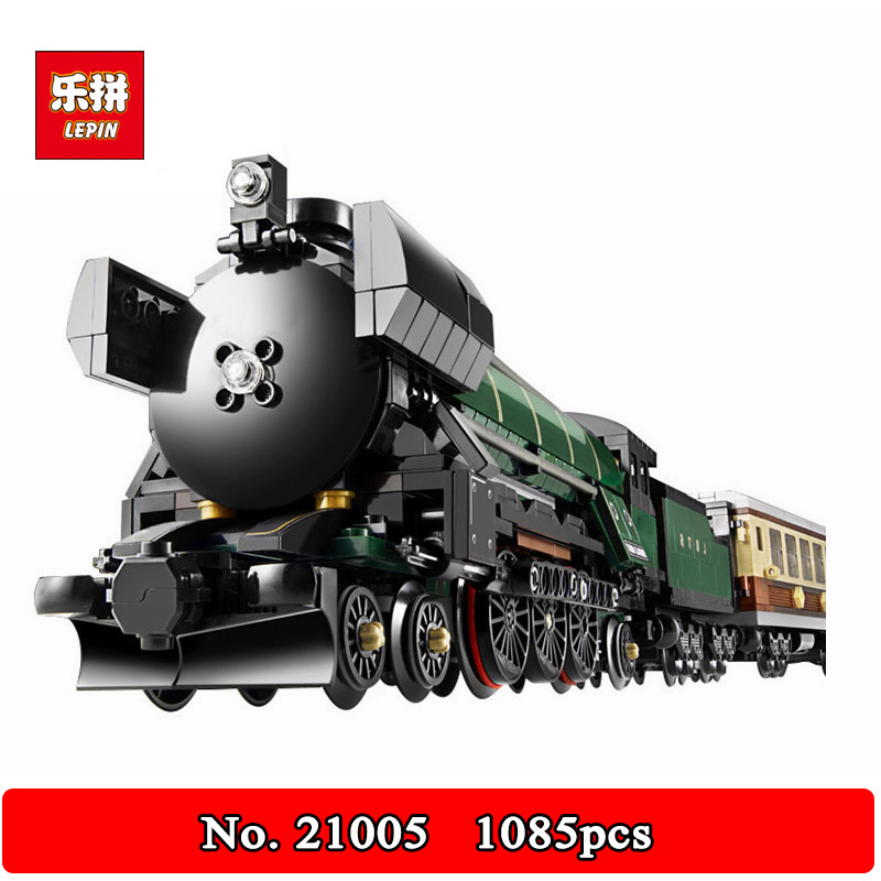 DHL Shipping Lepin 21005 Classic compatible Steam trains Model Building Kits Blocks 1085Pcs Bricks Children Toy 10194 a toy a dream lepin 15008 2462pcs city street creator green grocer model building kits blocks bricks compatible 10185