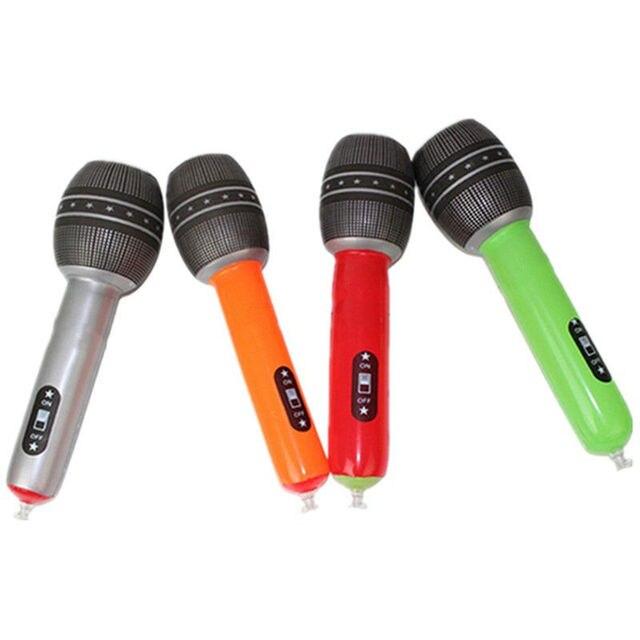 6 jouets gonflables dinstrument de PVC de Style pour des enfants bande de musique de fête de carnaval semblant jeu ils jouent des accessoires pour des enfants