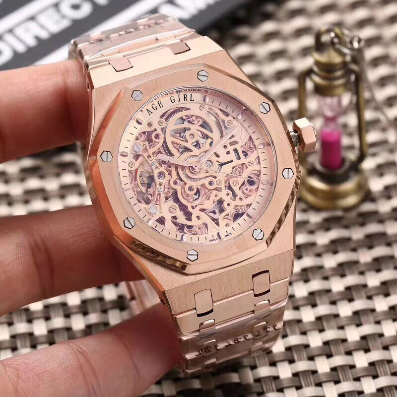Luxury Brand New Automatic Mechanical Self Wind Men Watch Sapphire Transparent Glass Skeleton Rose Gold Black Silver Watches AAALuxury Brand New Automatic Mechanical Self Wind Men Watch Sapphire Transparent Glass Skeleton Rose Gold Black Silver Watches AAA