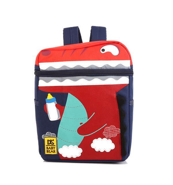 192fa2e45e4 Designer Kids Backpacks Dinosaur monster kindergarten backpack Cartoon  Animal Shoulder School Bag For nursery baby Girls Boys