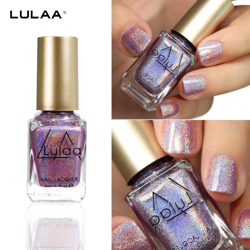 2018 LULAA 1bottle Super Shine Magic Rainbow Holographic Holo Glitter Hologram Effect Nail Polish Varnish Nail Manicure Nail Art