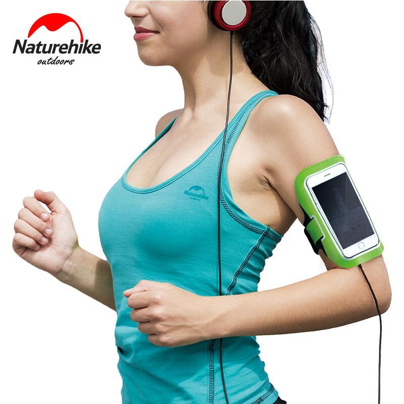 Սպորտային պայուսակներ Naturehike- ի բացօթյա գիշերային սպորտային պայուսակներ Arm Mobile Phone Ձեռքի պայուսակ տուփ հեռախոսի ֆիթնեսի պարագաների NH16Y008-B