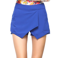 New Women Shorts 6 Pure Candy Colors Irregular Asymmetrical Geometric Low Waist Short Summer Female Casual