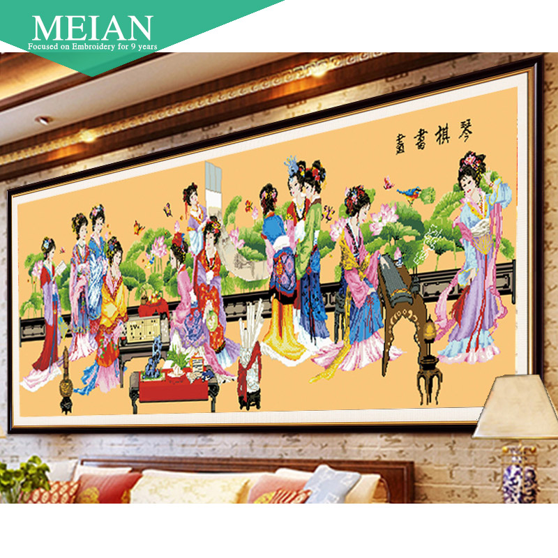 New 5D Diamond Painting Round Diamond Traditional Chinese Fancies of men of letters Diamond Embroidery for