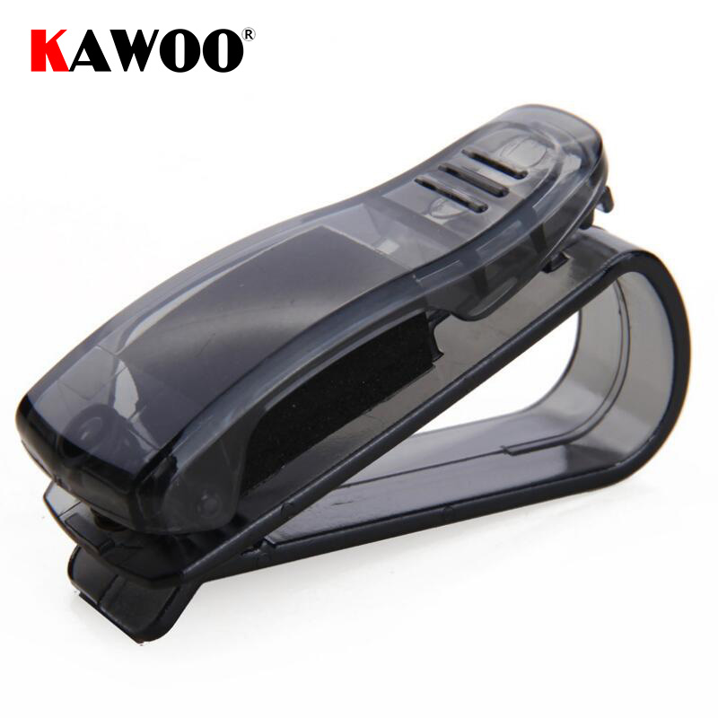 KAWOO Hot Sale Car Accessories Sun Visor Sunglass Eyeglasses Glasses Card Pen Abs Portable Clip Ticket Holder Stand 1Piece