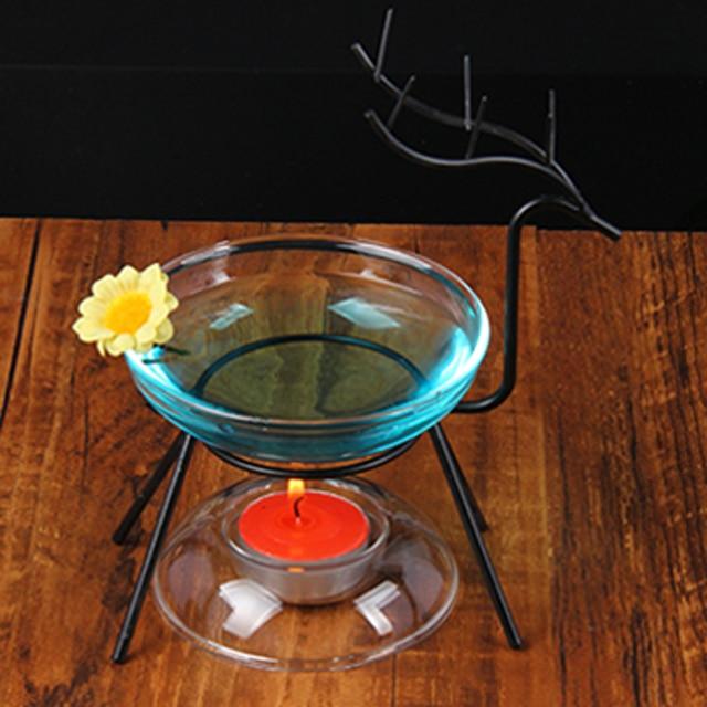 Black White Deer Iron Frame Incense Burner Candlestick Fragrance Oil Candle  Home Wedding Living Office Room