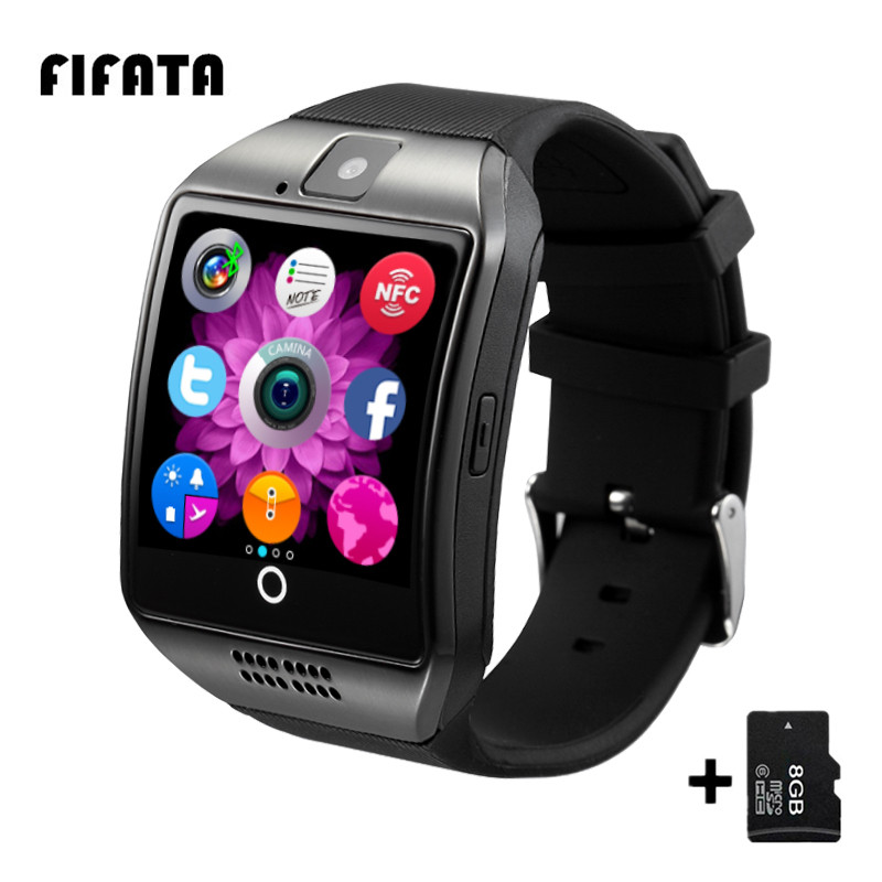 Q18 Bluetooth Smart Watch Intelligent Clock With Pedometer Camera SIM Card Whatsapp Call Message Display For Android Phone PK A1