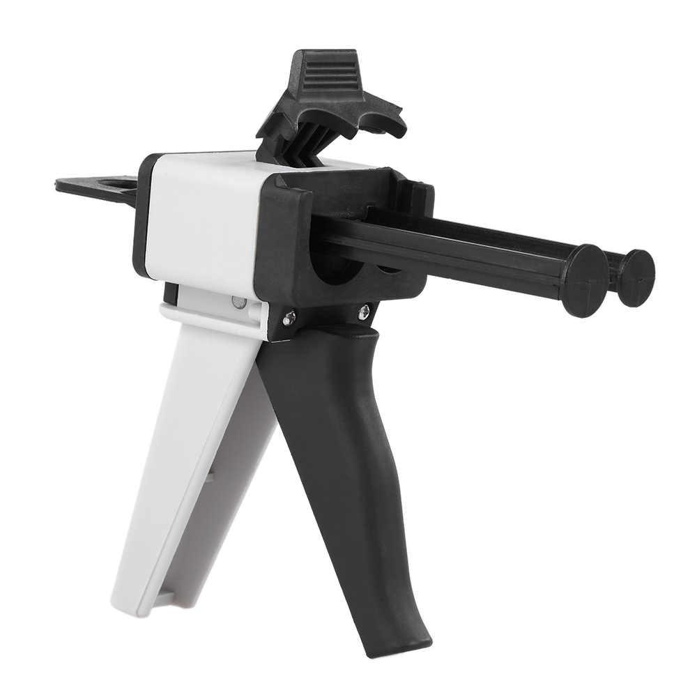 Зубные Впечатление Смешивание пистолет Универсальный Распределитель пистолет силиконовой резины диспенсер Gun1: 1/1:2 чеканка 50 мл инструмент