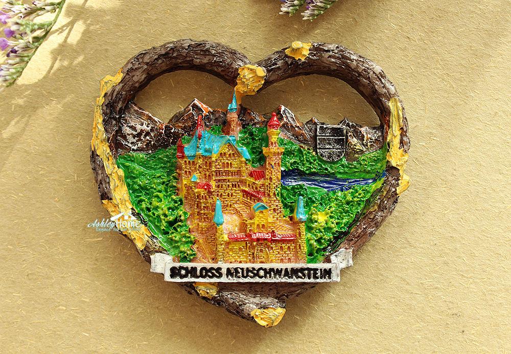 Neuschwanstein Castle, Germany Tourist Travel Souvenir 3D Resin Fridge Magnet