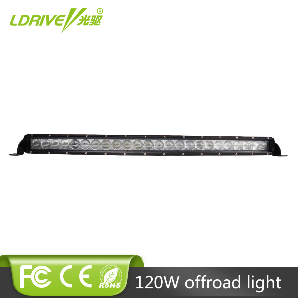 LDRIVE 120W Single Row Curved LED Light Bar Driving Working LED Bar 12V 24V Combo Beam LED Daytime Driving Lamp For Jeep SUV 4WD free dhl ups fedex ship 13 5 72w 2700lm 10 30v 6500k led working bar curved option wire of harness led bar light
