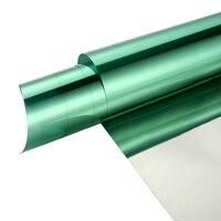 60 x100ft серебристо зеленый один способ окно конфиденциальности тонировка пленка анти УФ стекло винил самоклеющиеся окна солнцезащитный отт