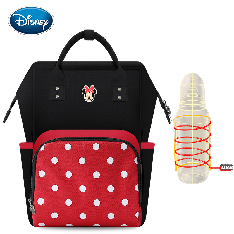 Disney Diaper Bag Mummy Multi-function Large Capacity Mummy Bag Waterproof Backpack Baby Care Travel Backpack Wet Bag